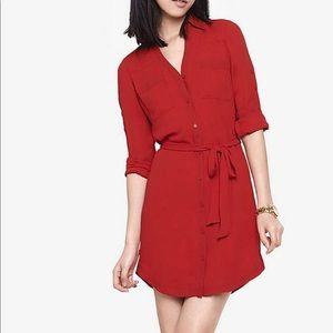 Express Portofino Button-down Dress Small